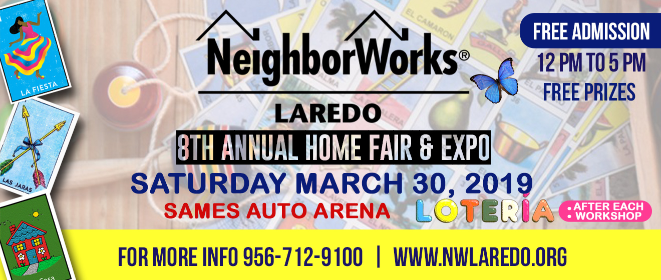Saturday, March 30, 2019 12:00 PM / Doors Open 11:30 p.m.. NeighborWorks Laredo